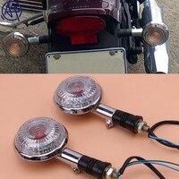 Mototcycle lente clara âmbar luz pisca indicadores da lâmpada 1 pares universal para yamaha xj750 xvs 650 xvz1300