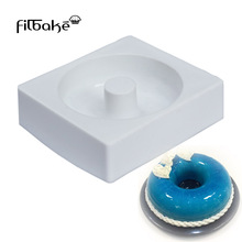 Square Savarin Donuts Hollow Shaped Silicone Baking Mold Cake Pan for Decorating