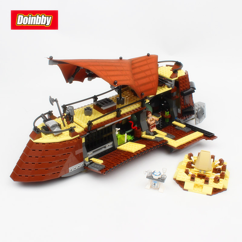Lepin 05090 Space War 821Pcs Genuine Movie The Jabba`s Sail Barge Sailing Ship Set Building Blocks Bricks Toys Kids Gift 6210 rollercoasters the war of the worlds