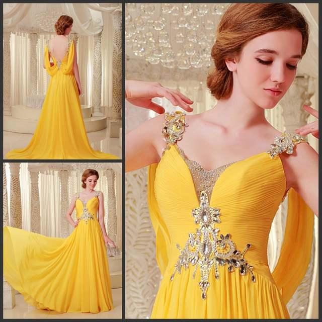85fa06c2cbdbc free shipping 2018 luxury rhinestone crystal vestidos formal bride gown  purple chiffon yellow long Graduation bridesmaid Dresses