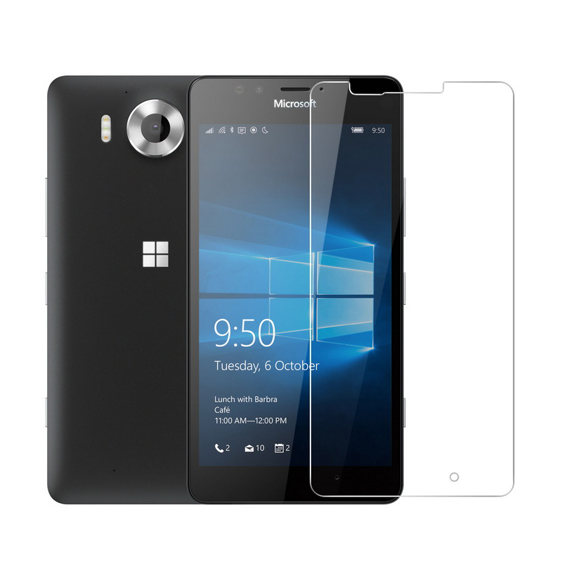 Scratch Resistant Ultra Clear Tempered Glass Screen Protector Film for Nokia Microsoft Lumia 640 Bear Village Screen Protector for Nokia Microsoft Lumia 640 1 Pack