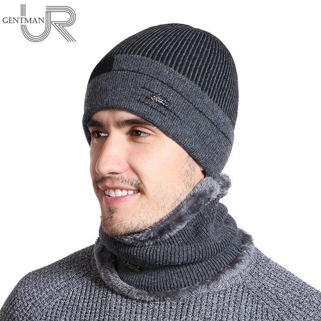 Novo Chapéu de Inverno Para Homens Casual Skullies Gorros Chapéus de Inverno  Gorro de Lã Das 55eb506f653