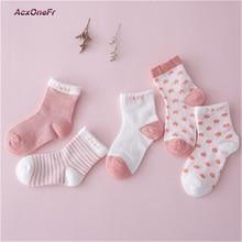 5 Pairs Socks Set Spring Baby Boy Girl Cotton Colorful Socks Newborn Toddler Kids Summer Fashion Soft l Socks  0-6 Y WM-128
