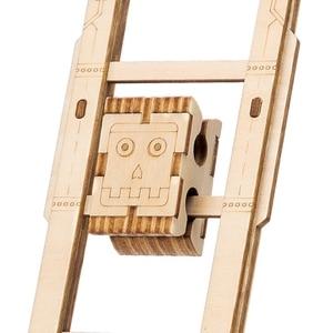 Image 4 - 뜨거운 diy robotime 공예 나무 스윙 소년 assemle 나무 공예 키트 홈 장식 모델 장식 액세서리 어린이를위한 선물