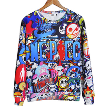 Naruto One Piece Print Pullover Hoodie