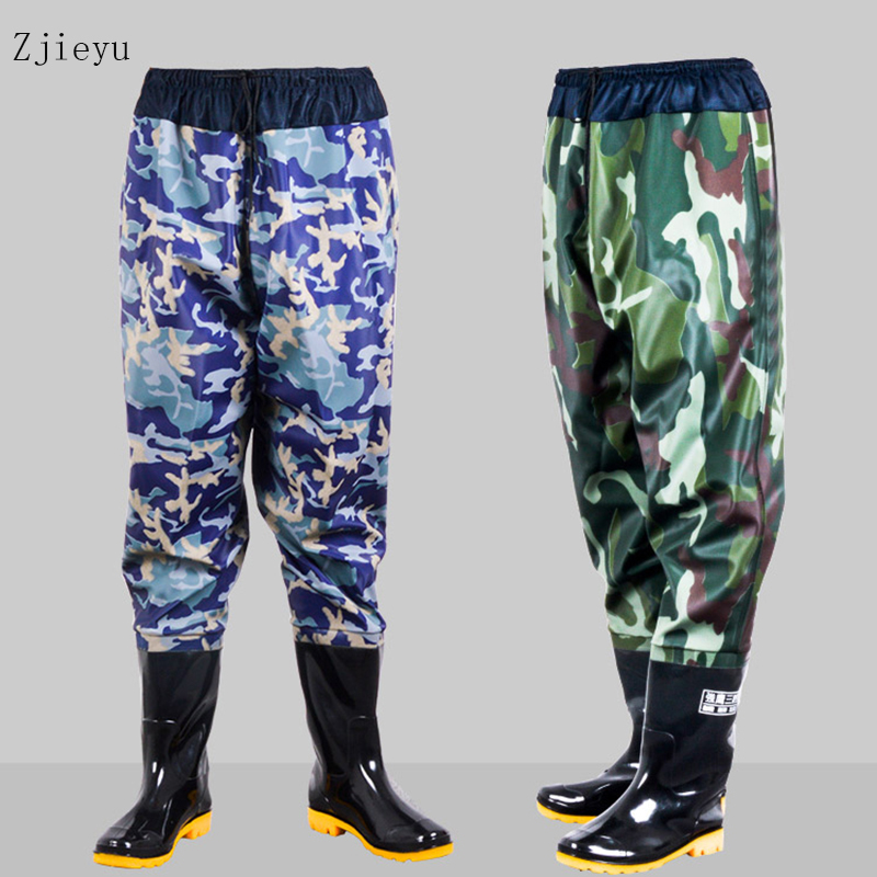 Winter fishing boots men forest camouflage rubber rain boots for Men antiskid rubber boots galoshes цены