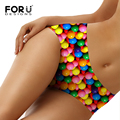 FORUDESIGNS Colorful Cute Candy Printed Women Sexy Underwear Fashion Ladies Seamless Panties Female Breathable Briefs Size S-XL