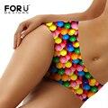 Forudesigns coloridas doces bonito impresso mulheres sexy underwear moda feminina sem costura calcinhas femininas cuecas respirável tamanho s-xl