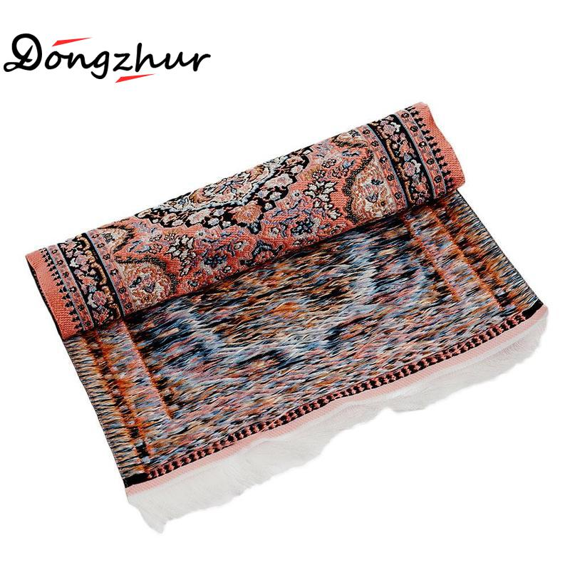 1:12 Oval Blue Carpet Miniature Embroidered Rug Floor Covering Mat Dollhouse DIY