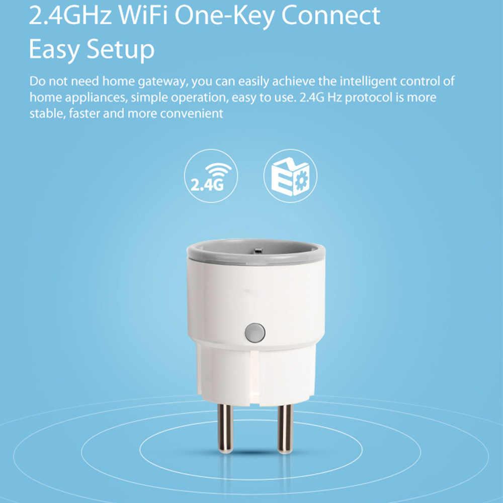 Enchufe inteligente Rdxone para UE, con Wifi, 16a/10A, enchufe WiFi, redes eléctricas con Control remoto y temporizador, funciona con Amazon Alexa / Google