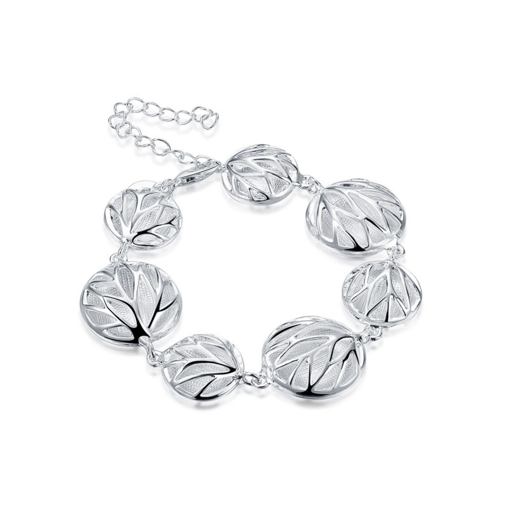 Hot Sale Sterling Silver Jewelry Indian 925 Silver Bracelets For Women  Fashion Bracelet Bangle Thailand Pulseira