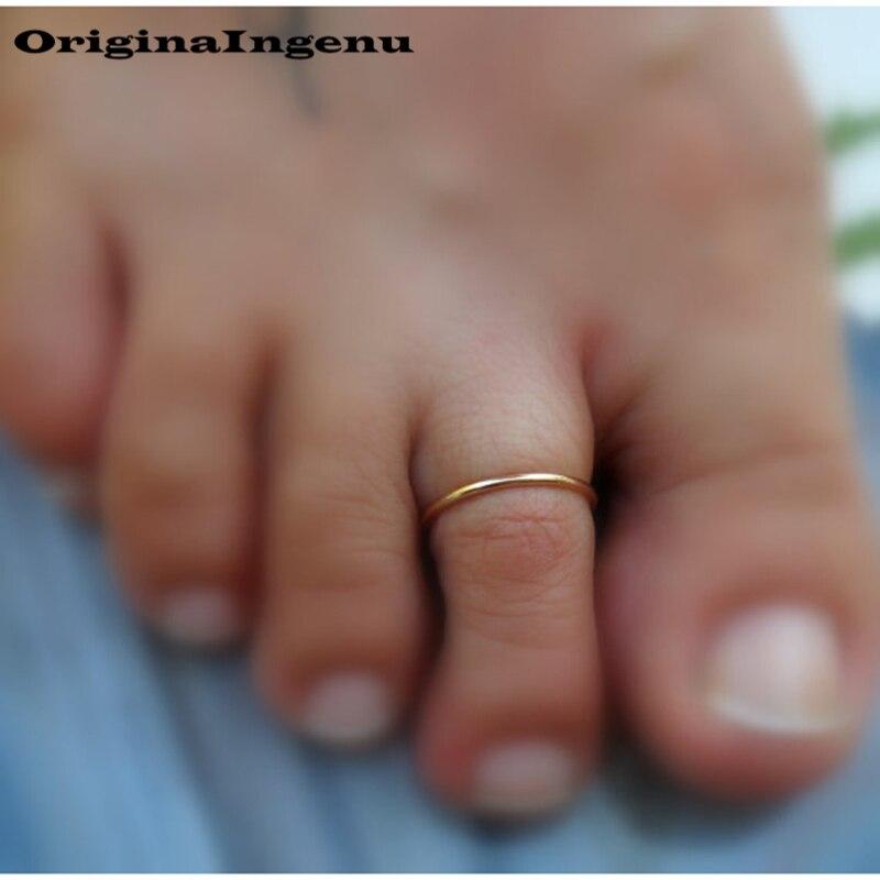 Grillz Jewelry izable Handmade Adjustable Exquisite Chevron Toe Ring 15mm Hoop Rings for Women Foot Jewelry-3