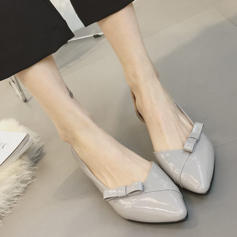 2017 Summer New Arrived Brand Women Shoes Slip-On Girl Bowtie Pumps Work Single Shoes Ladies High Heels Zapatos Mujer Plus Size sweet women high quality bowtie pointed toe flock flat shoes women casual summer ladies slip on casual zapatos mujer bt123