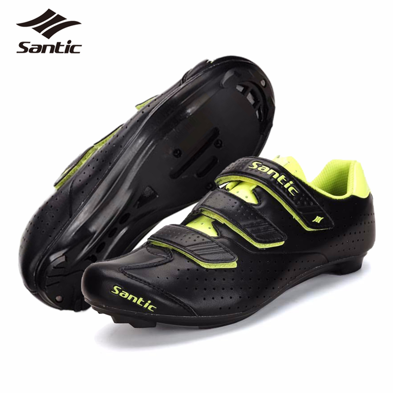 ФОТО 2017 SANTIC Mens PRO Road Cycling Shoes Nylon TPU Road Bicycle Shoes Locking Bike Shoes Chaussure Velo Route Zapatillas Ciclismo