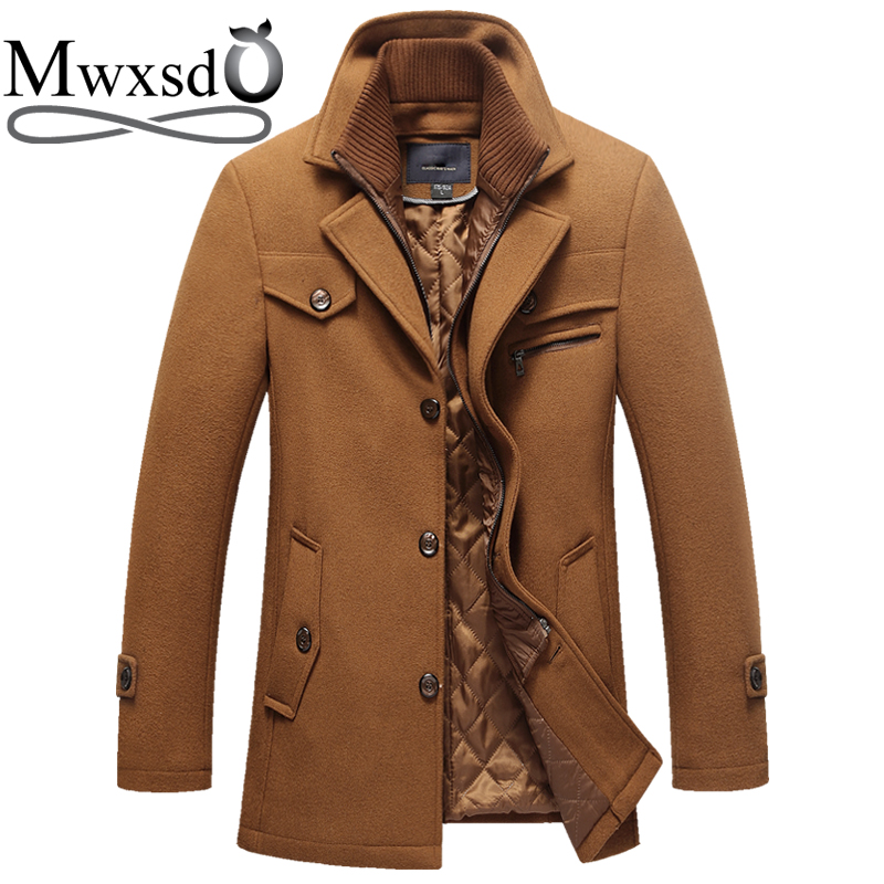 Men British winter padded warm cotton long version coat jacket metrosexual man hooded cotton brand design