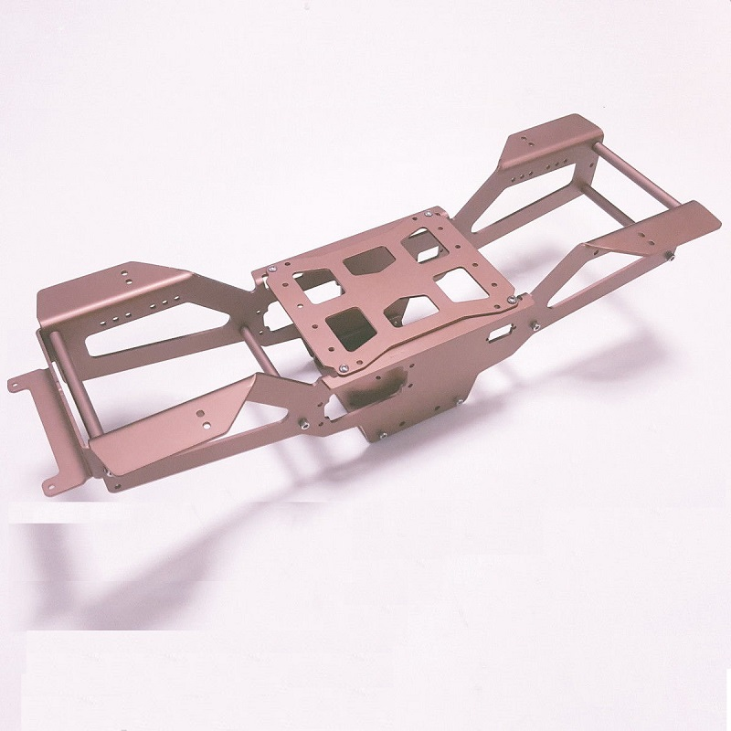 RC 1/10 Kit Amortecedores de Liga de Alumínio Com Chassis para Tamiya Clodbuster/Bullhead 4*4 6*6 - 4