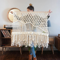 Wall tapestry Hanging Macrame Decorations Bohemia Handcraft Tassel Tapestry Background wall farmhouse decor
