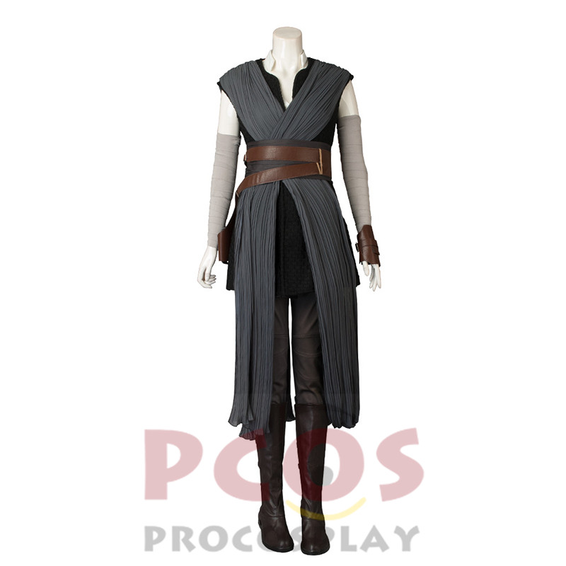 New Star Wars:The Last Jedi Rey Cosplay Costume & Boots mp003832