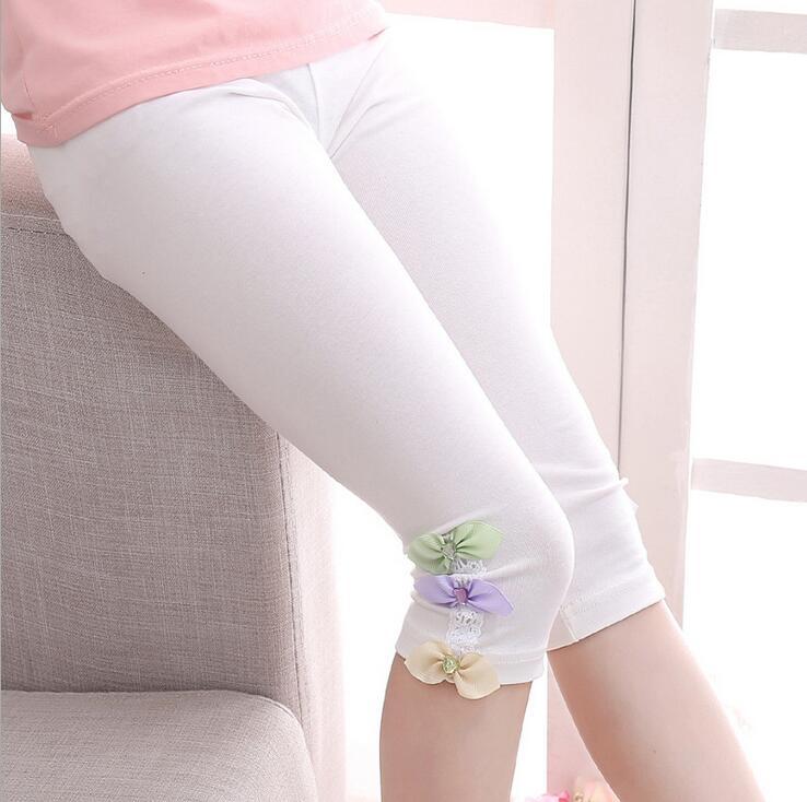 Kids Leggings For Girls Children Clothing Cotton Flower Pants Girls Skinny Trousers 3 4 5 6 7 8 9 11 12 Years Summer Dance Wear 6