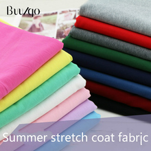 40 combed cotton knitted sweater fabric Terry small spring summer sportswear fabric high elastic cotton