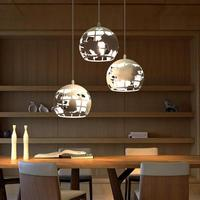 Bar dining room led metal Sphere pendant lights for Salon retro Unique world map pendant lamps Library vintage map lamp Abajur