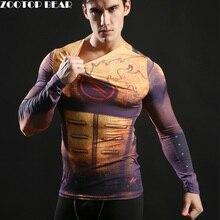 Hot 2017 Superhero Superman Batman Spiderman font b Men b font Long Sleeve T Shirt Compression