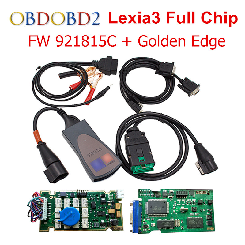 A++ Quality PCB Board Diagbox V7.83 Lexia Lexia3 FW 921815C Full Chips Lexia 3 PP2000 V48 With 12pcs Relays 7pcs Optocouplers