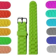 18 мм большая трава зеленые цветные силиконовые Силиконовая форма-украшение для торта женские Для мужчин для ремешка часов WB1060U18JB