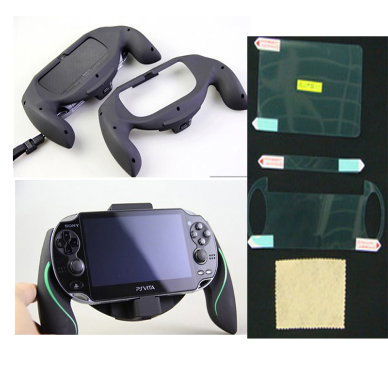 Consumer Electronics Bracket Hand Grip Handle Joypad Stand Holder Support Cradle+lcd Screen Protector Film Cover For Sony Ps Vita 1000 Psv1000 Psvita