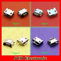 4 Models Micro USB female connector USB 2.0 jack USB female socket SMT/DIP 5pin USB Jack