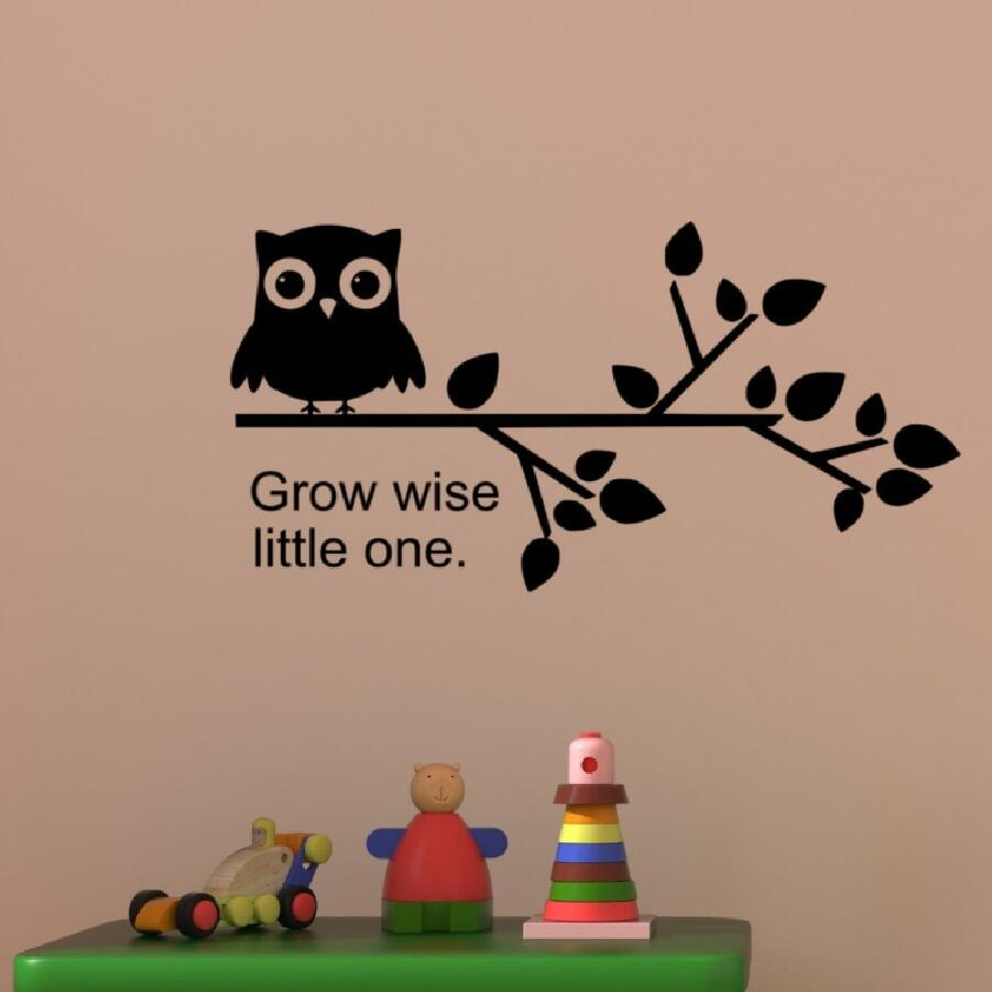 WISE OWL Vinyl Decal Car Wall Window Sticker CHOOSE SIZE COLOR