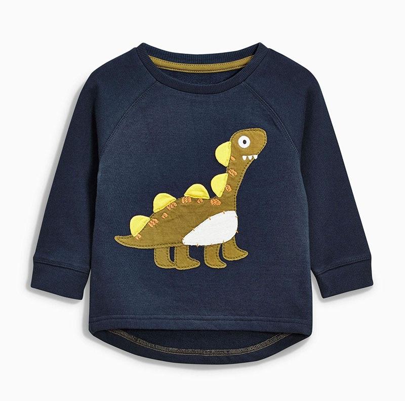Little maven Boys Sweatshirt Cotton T shirt for Boy Fashion Cartoon Dinosaur Shirts 1-6Yrs Kids Clothes Autumn Casual Tops Tees