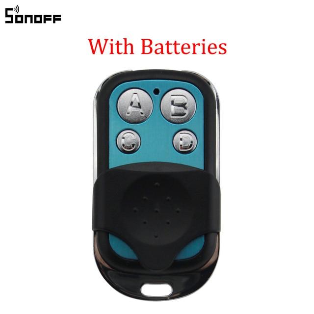 Sonoff, 433 MHz, 4 canales de RF controlador remoto ABCD 4 botones para Sonoff RF Slampher inteligente 4CH Pro R2 T1 eléctrico control remoto de llave Fob