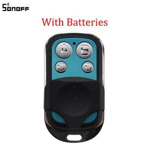 Image 1 - Sonoff 433MHz 4 Kanal RF Fernbedienung ABCD 4 Tasten für Sonoff RF Slampher 4CH Pro R2 T1 Elektrische remote Key Fob Control