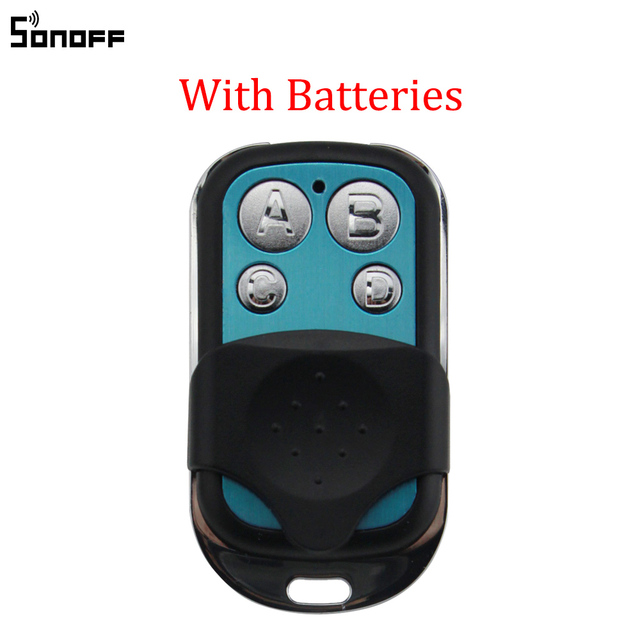 Sonoff 433MHz 4 Kanal RF Fernbedienung ABCD 4 Tasten für Sonoff RF Slampher 4CH Pro R2 T1 Elektrische remote Key Fob Control