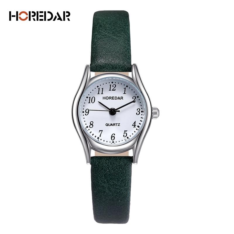 HOREDAR Fashion Watches Women Retro Small Dial Roma Scale Casual Watch High Quality Women Quartz Wristwatch female clock
