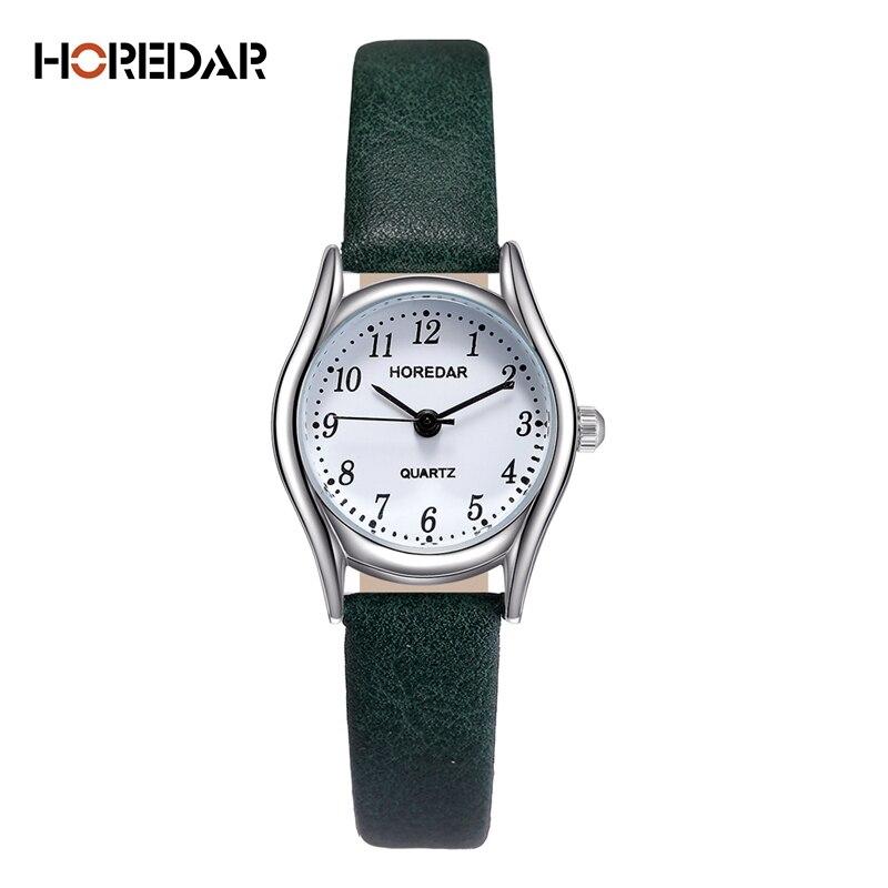 Horedar модные Часы Для женщин Ретро маленький циферблат рома Весы Повседневное часы Высокое качество Для женщин кварцевые наручные женские часы