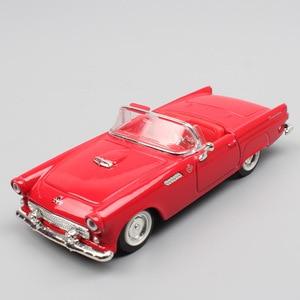 Детские 1:43 винтажные Ретро 1955 Ford Thunderbird T-Bird металлические транспортные средства, трансформируемые модели литья под давлением, весы, мини-ав...