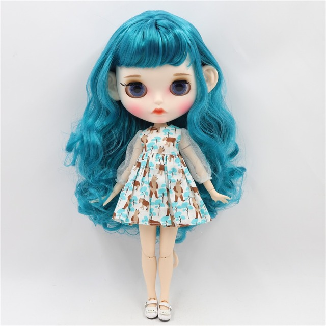 Kennedy – Premium Custom Blythe Doll with Clothes Pouty Face