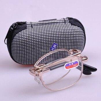 3c039fb157 Portátil plegable Gafas para leer las mujeres aleación Marcos mini bolsillo  Gafas para leer los hombres oculos dobrável Homens párr Leitura Gafas