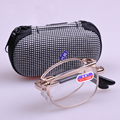 Portable Foldable Reading Glasses Women Alloy Frame Mini Folding Reading Glasses Men Oculos Dobravel Homens Para Leitura Glasses