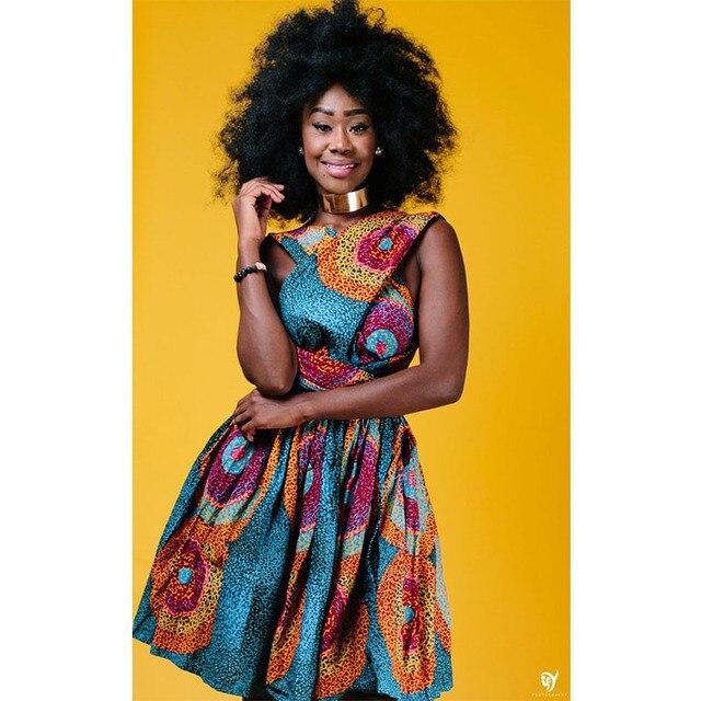 6aada6b84 Africanos vestidos para mujeres Plus tamaño hermosa vestidos ropa Casual  verano vestidos de verano Impresión digital