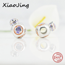 hot deal buy new style pandora charms silver 925 color enamel robot beads fit original bracelets pendant beads diy jewelry making for gifts