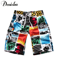2017 Summer new casual sexy for men brand printed boardshort shorts luxury quick drying bramuda men's beach shorts short pants