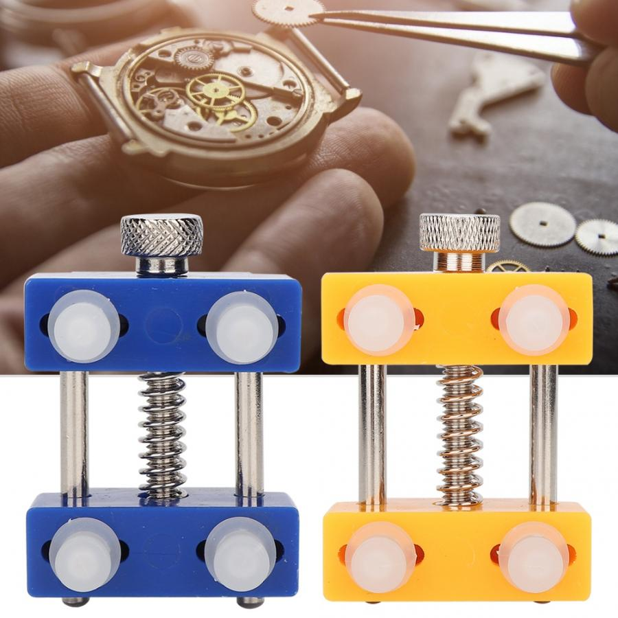 Étui de montre porte-outil de fixation de la montre retirer pour montre bracelet réparation mouvement horloger réparation Kit de remplacement ouvreur