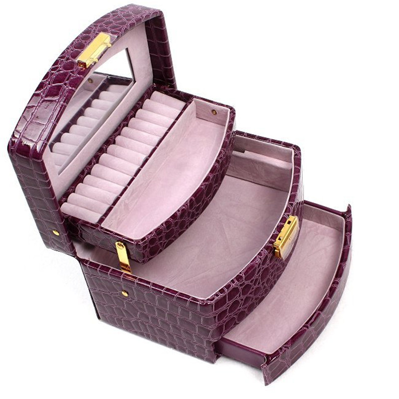 New Glass Top Jewelry Display Case Box Black 24 Gem Gold ...  |Jewelry Display Packaging