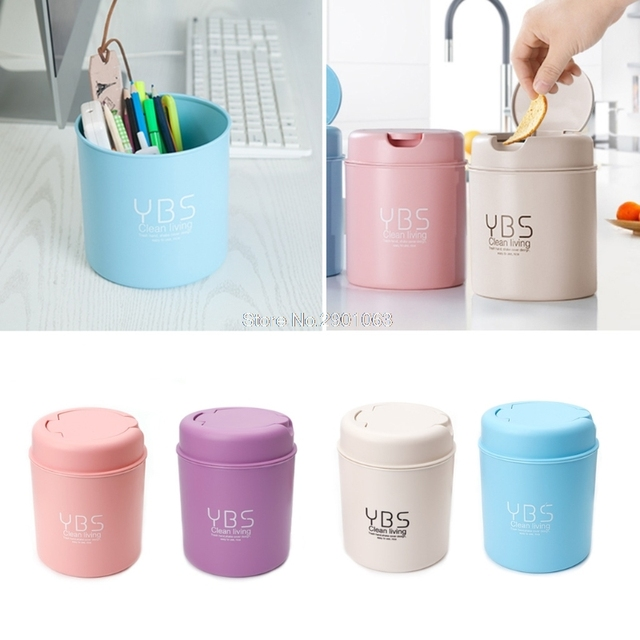 Cute Mini Small Waste Bin Desktop Garbage Basket Table Home Office Trash Can Storage Box  sc 1 st  AliExpress.com & Cute Mini Small Waste Bin Desktop Garbage Basket Table Home Office ...