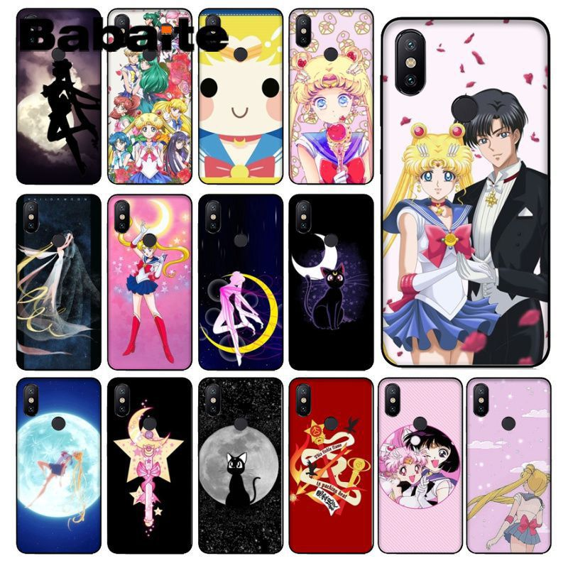 Cellphones & Telecommunications Impartial Babaite Sailor Moon Sailor Girl Smart Cover Black Soft Shell Phone Case For Redmi 5plus 5a 6pro 4x Note5a Note4x Note7 6a Funda To Have A Unique National Style Half-wrapped Case