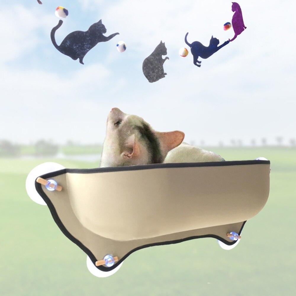 Nicrew Gatto Amaca Letto di Montaggio Finestra Pod Lettino Ventose Caldo Letto Per Pet Cat Resto Casa Morbido E Confortevole furetto Gabbia