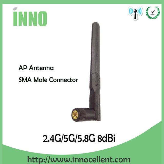 2.4 GHz 5.8 Ghz 5G wifi Anten 2.4 ghz 8dBi SMA Erkek Konnektör Dual Band 2.4G 5.8G 5G wi fi Antenne kablosuz router antena